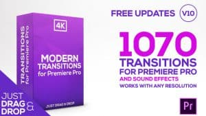 Videohive Modern Transitions For Premiere PRO V10