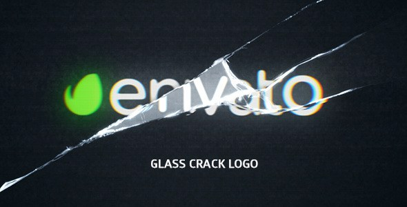 VIDEOHIVE GLASS CRACK LOGO